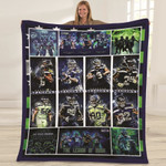 Seattle Seahawks Conference Members Great Players NFL American Football Team Logo Gift For Seahawks Fans Fleece Blanket