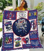 Buffalo Bills Legends Players and Coaches NFL American Football Team Logo Gift For Bills Fans Quilt