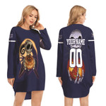 Jack Skellington Tampa Bay Rays Nightmare Navy 3D Allover Custom Name Number Gift For Rays Fans Halloween Lovers Long Sweatshirt