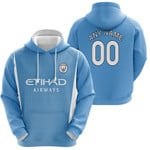 Manchester City Football Club Home Jersey Style 3D Allover Custom Name Number Gift For Manchester City Fans Hoodie