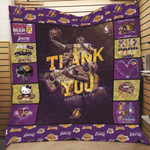 Los Angeles Lakers Thank You Kobe Bryant Professional Basketball Players Ever gift for Lakers fans Kobe Bryant fans Quilt