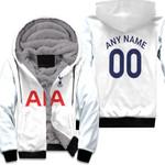 Tottenham Hotspur Football Club Home Jersey Style 3D Allover Custom Name Number Gift For Tottenham Hotspur Fans Fleece Hoodie