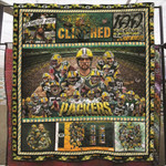 Green Bay Packers Clinched Conference Members Stadium NFL American Football Team Logo Gift For Packers Fans Quilt