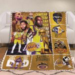 Los Angeles Lakers Campeao A Sons First Hero A Daughters First Love Dad Lakers gift for Lakers fans Fleece Blanket