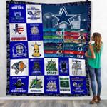 Dallas Cowboys Last Call Hall Mary Prescott Tochdown Once a Cowboy Always a Cowboy gift for Dallas Cowboys fans Fleece Blanket