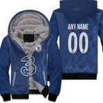 Chelsea Football Team Home Jersey Style 3D Allover Custom Name Number Gift For Chelsea Fans Fleece Hoodie