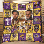 Los Angeles Lakers Call Love All Summer Long She Was A Sweet Western Lady Then Basketball Started gift for Lakers fans Quilt