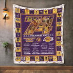 Los Angeles Laker 74 Years of the Greatest NBA teams Thank You For The Memories Kobe Bryant Jerry West gift for Lakers fans Quilt