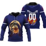 Jack Skellington New York Giants Nightmare Navy 3D Allover Custom Name Number Gift For Giants Fans Halloween Lovers Hoodie