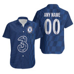 Chelsea Football Team Home Jersey Style 3D Allover Custom Name Number Gift For Chelsea Fans Hawaiian Shirt