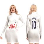 Tottenham Hotspur Harry Kane 10 Football Club Home Jersey Style 3D Allover Gift For Tottenham Hotspur Fans Waist Hollow Hip Dress