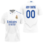 Real Madrid Football Club Home Jersey Style 3D Allover Custom Name Number Gift For Real Madrid Fans Polo shirt