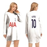 Tottenham Hotspur Harry Kane 10 Football Club Home Jersey Style 3D Allover Gift For Tottenham Hotspur Fans Long Sweatshirt