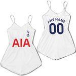 Tottenham Hotspur Football Club Home Jersey Style 3D Allover Custom Name Number Gift For Tottenham Hotspur Fans Romper Jumpsuit