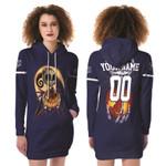 Jack Skellington Tampa Bay Rays Nightmare Navy 3D Allover Custom Name Number Gift For Rays Fans Halloween Lovers Fleece Hoodie Dress