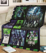 Green Bay Packers 4 Times Super Bowl Champions NFL American Football Team Logo Gift For Packers Fans Fleece Blanket