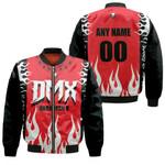 DMX Dark Man X American rapper Fire Red Black 3D Designed Allover Custom Gift For DMX Fans Bomber Jacket