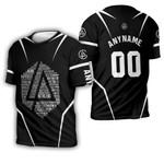 Linkin Park Famous Songs Rock band Logo Black 3D Designed Allover Custom Gift For Linkin Park Fans 3D T-shirt