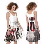 DMX Sounds Vibes Radio American rapper Black White 3D Designed Allover Custom Gift For DMX Fans A-line Dress