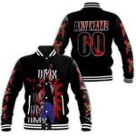 DMX Fire On Performance American rapper Black 3D Designed Allover Custom Gift For DMX Fans Baseball Jacket