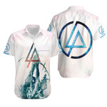 Linkin Park Angels Rock band Logo White 3D Designed Allover Gift For Linkin Park Fans Hawaiian Shirt