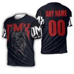 DMX American rapper Pit Bull Black 3D Designed Allover Custom Gift For DMX Fans 3D T-shirt