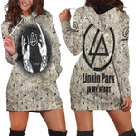 Linkin Park In My Heart The Best Rock band Logo 3D Designed Allover Gift For Linkin Park Fans Hoodie Dress