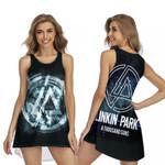 Linkin Park A Thousand Suns Rock band Logo Black 3D Designed Allover Gift For Linkin Park Fans Sleeveless Dress