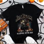 Jack Skellington Jim Beam Bourbon Nightmare Before Drink Spooky Halloween Gift For Jack Skellington Fans Tshirt