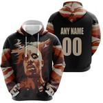 DMX American rapper Vapor Black 3D Designed Allover Custom Gift For DMX Fans Hoodie