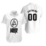 Linkin Park Rock band Logo White Gradient 3D Designed Allover Custom Gift For Linkin Park Fans Hawaiian Shirt