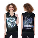 Linkin Park A Thousand Suns Rock band Logo Black 3D Designed Allover Gift For Linkin Park Fans Zip Sleeveless Hoodie