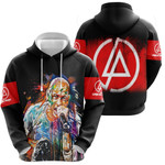Linkin Park Chester Bennington Art Colorful Rock band Logo Black Red 3D Designed Allover Gift For Linkin Park Fans Hoodie