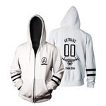 Linkin Park Rock band Logo White 3D Designed Allover Gift For Linkin Park Fans Zip Hoodie