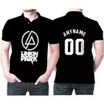 Linkin Park Rock band Logo Black Gradient 3D Designed Allover Custom Gift For Linkin Park Fans Polo shirt