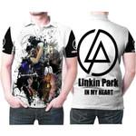 Linkin Park Legend Members Art Rock band Logo White 3D Designed Allover Gift For Linkin Park Fans Polo shirt