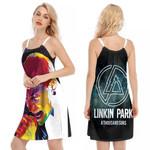 Linkin Park A Thousand Suns Chester Bennington Art Rock band Logo 3D Designed Allover Gift For Linkin Park Fans O-neck Dress