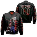 DMX Fire On Performance American rapper Black 3D Designed Allover Custom Gift For DMX Fans Bomber Jacket