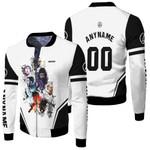 Linkin Park Legend Members Rock band Logo White 3D Designed Allover Gift For Linkin Park Fans Fleece Bomber Jacket
