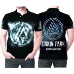 Linkin Park A Thousand Suns Rock band Logo Black 3D Designed Allover Gift For Linkin Park Fans Polo shirt