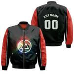 Linkin Park Rock band Rainbow Logo Black Red 3D Designed Allover Custom Gift For Linkin Park Fans Bomber Jacket