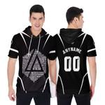 Linkin Park Famous Songs Rock band Logo Black 3D Designed Allover Custom Gift For Linkin Park Fans Short Sleeve Hoodie