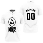 Linkin Park Rock band Logo White Gradient 3D Designed Allover Custom Gift For Linkin Park Fans Polo shirt