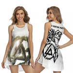 Linkin Park Legend Rock band Logo Black White 3D Designed Allover Gift For Linkin Park Fans Sleeveless Dress