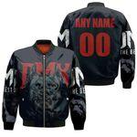 DMX American rapper Pit Bull Black 3D Designed Allover Custom Gift For DMX Fans Bomber Jacket