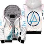 Linkin Park Angels Rock band Logo White 3D Designed Allover Gift For Linkin Park Fans Fleece Hoodie