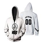 Linkin Park Rock band Logo White Gradient 3D Designed Allover Custom Gift For Linkin Park Fans Zip Hoodie