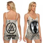 Linkin Park In My Heart The Best Rock band Logo 3D Designed Allover Gift For Linkin Park Fans V-neck Romper Jumpsuit