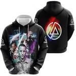 Linkin Park Chester Bennington Rock band Rainbow Logo Black 3D Designed Allover Gift For Linkin Park Fans Hoodie