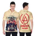 Linkin Park In My Heart All Legend Members Rock band Logo Cream 3D Designed Allover Gift For Linkin Park Fans Short Sleeve Hoodie